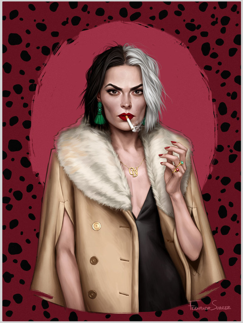 cruella by fdasuarez dby3g5z - How Disney Princesses Would Look If They Lived in 2019