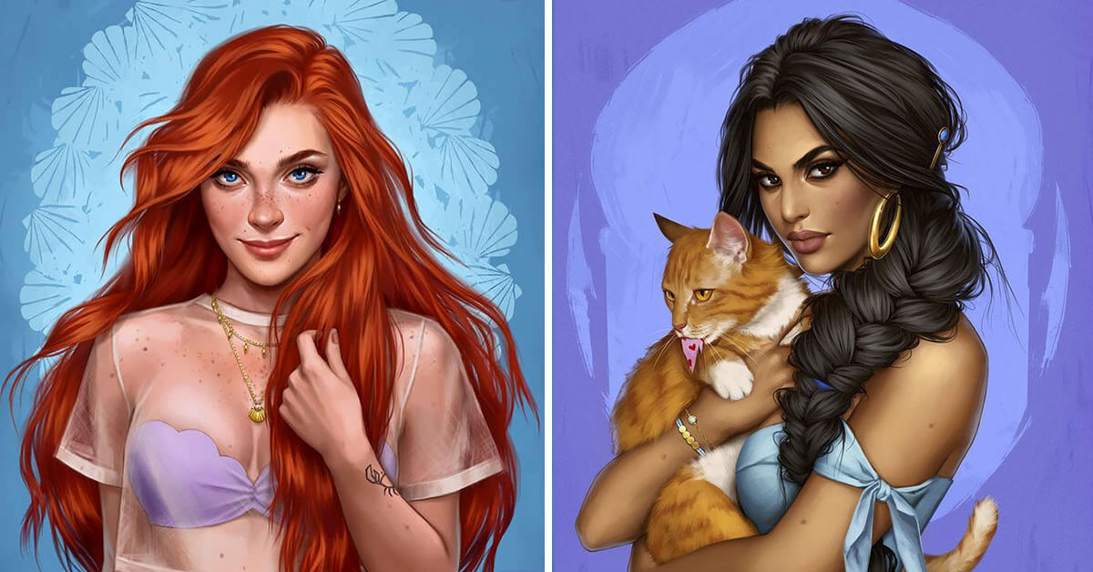 How Disney Princesses would look if they lived in 2020 12