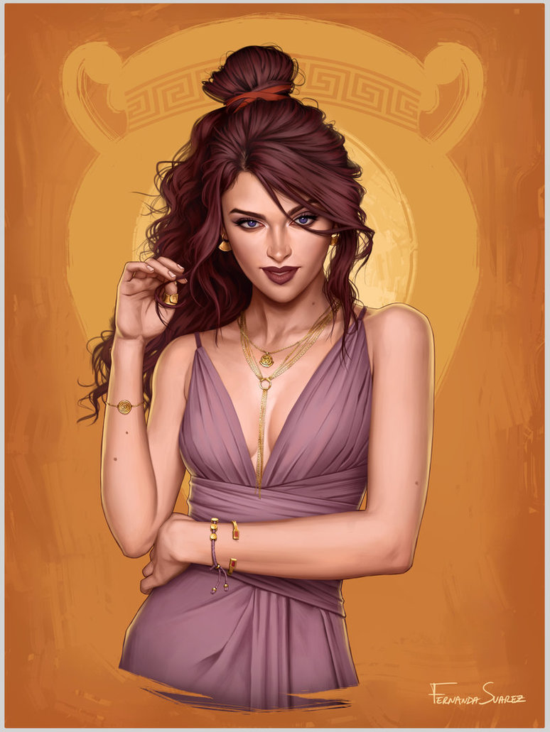 megara by fdasuarez dbznar0 - How Disney Princesses Would Look If They Lived in 2019