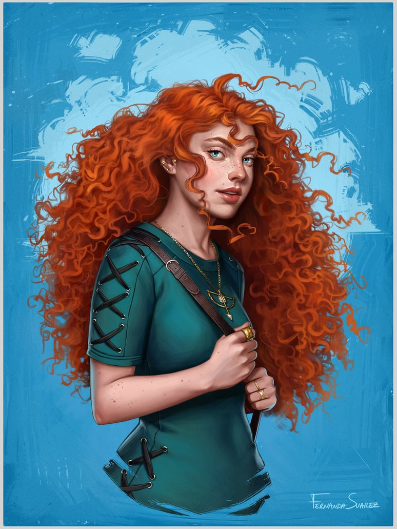 merida by fdasuarez dbt7pet - How Disney Princesses Would Look If They Lived in 2019