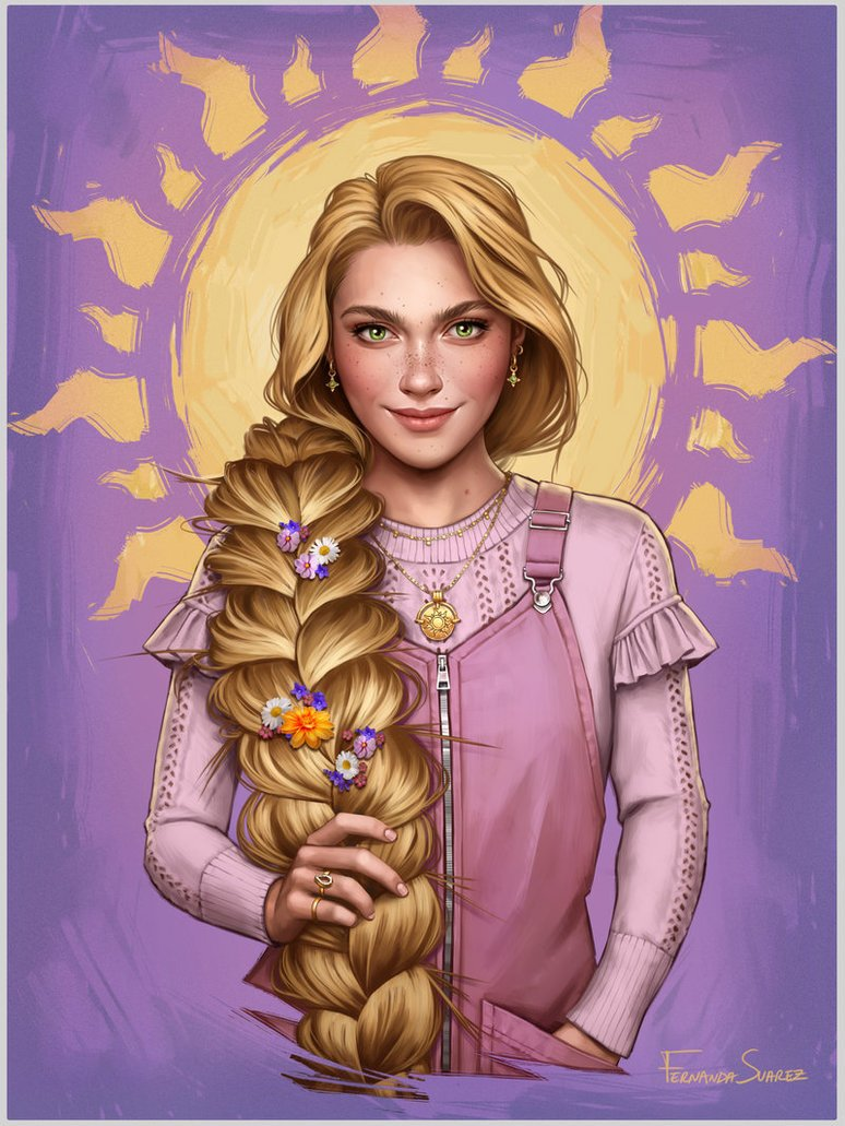 rapunzel by fdasuarez dbvwymh - How Disney Princesses Would Look If They Lived in 2019