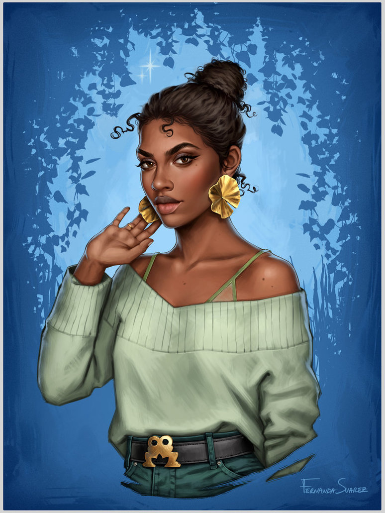 tiana by fdasuarez dbuls16 - How Disney Princesses Would Look If They Lived in 2019