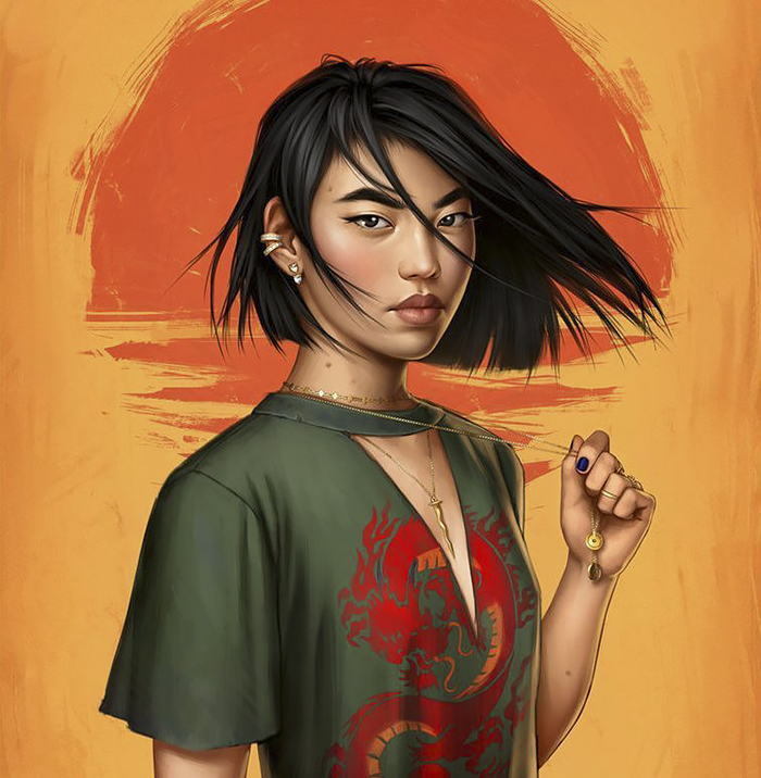 mulan 2 - How Disney Princesses Would Look If They Lived in 2019