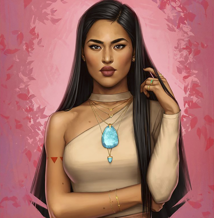 pocahontas 2 - How Disney Princesses Would Look If They Lived in 2019