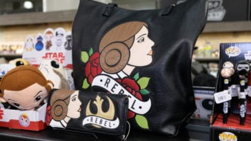 Loungefly x Star Wars Princess Leia Rebel Tattoo Tote Bag - $65 / Wallet - $38