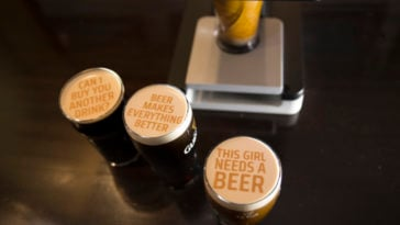 You can now print messages and photos onto your beer 19