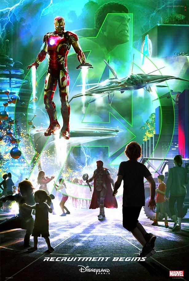 Disney World Marvel Universe Poster with Iron Man