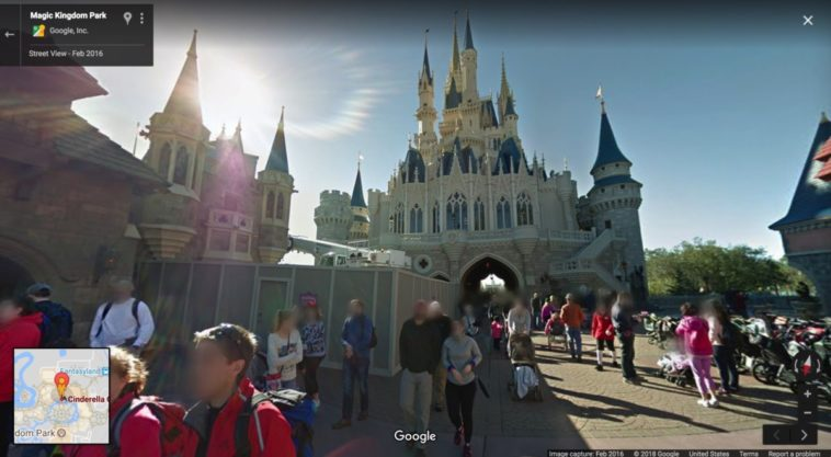 Cinderellas castle google street view