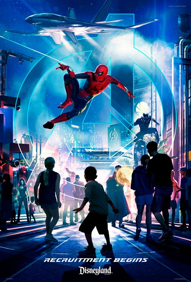 the Marvel Universe is coming to Disneyland