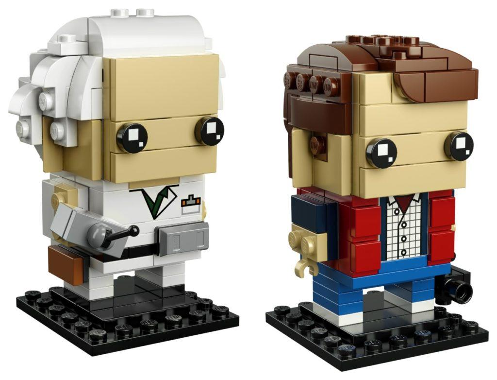 Back to the Future LEGO BrickHeadz on base