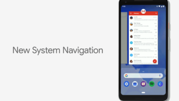 Android P system navigation