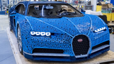 Life-size LEGO Technic Bugatti Chiron model has real horsepower 12