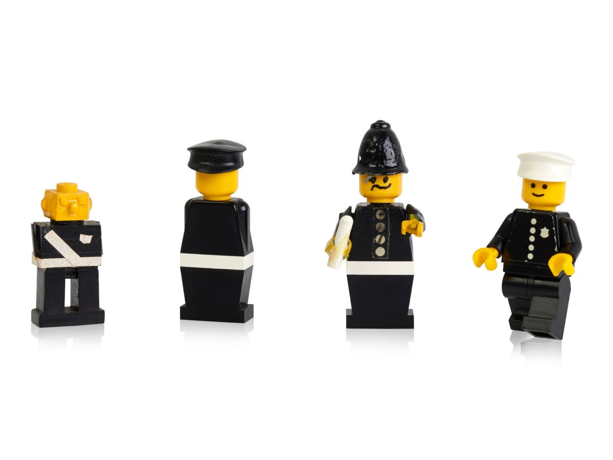 Early prototypes and first police minifigure