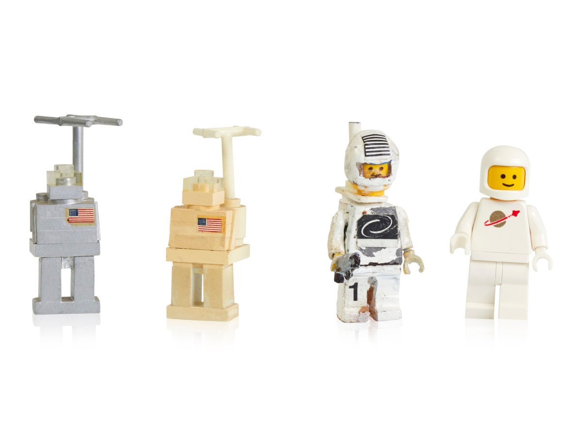 Early prototypes and first space minifigure