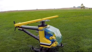 This giant helicopter made of LEGO actually flies 16