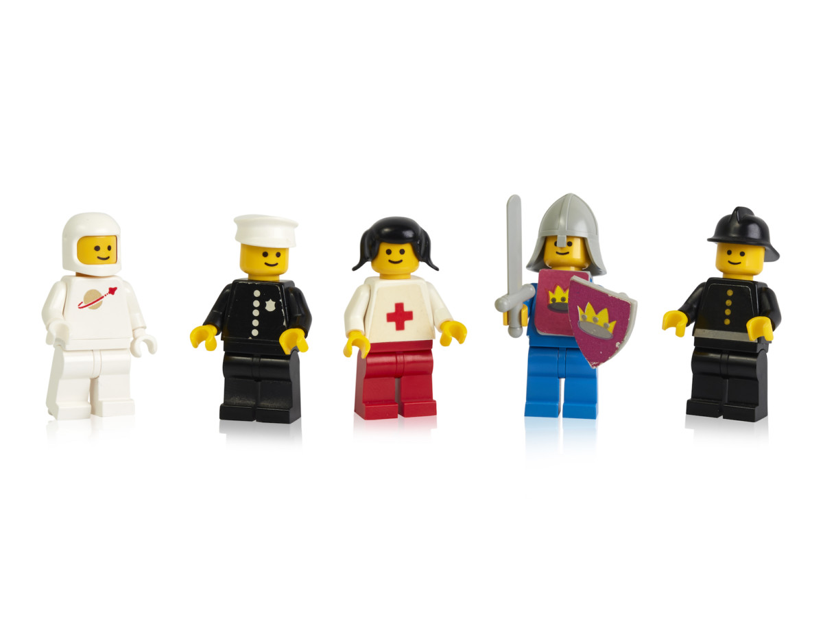 Some of the first LEGO minifigures launched in 1978