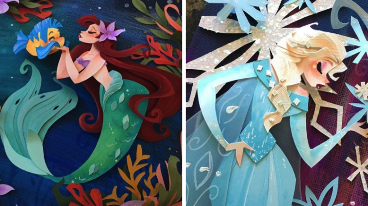 22 Disney Princesses and Characters Re-imagined as Paper Art 12