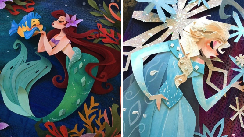 22 Disney Princesses and Characters Re-imagined as Paper Art 17