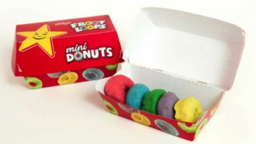 Froot Loop mini donuts are now available at Carl's Jr and Hardee's 17