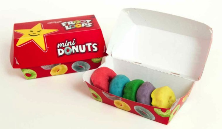 Froot Loop mini donuts are now available at Carl's Jr and Hardee's 13