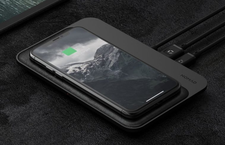 Nomad's sexy leather wireless charging hub can charge 4 phones at once 13
