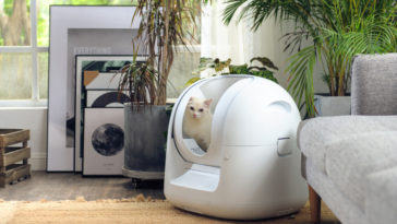 This futuristic litter box cleans itself and monitors your cat's health 15