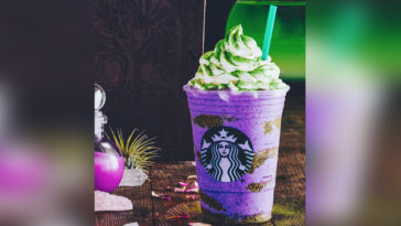 Starbucks has concocted a Witch's Brew Frappuccino for Halloween 23