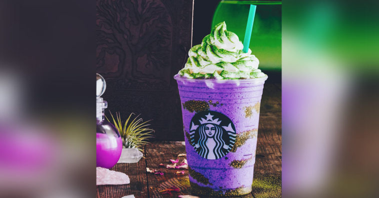 Starbucks has concocted a Witch's Brew Frappuccino for Halloween 10