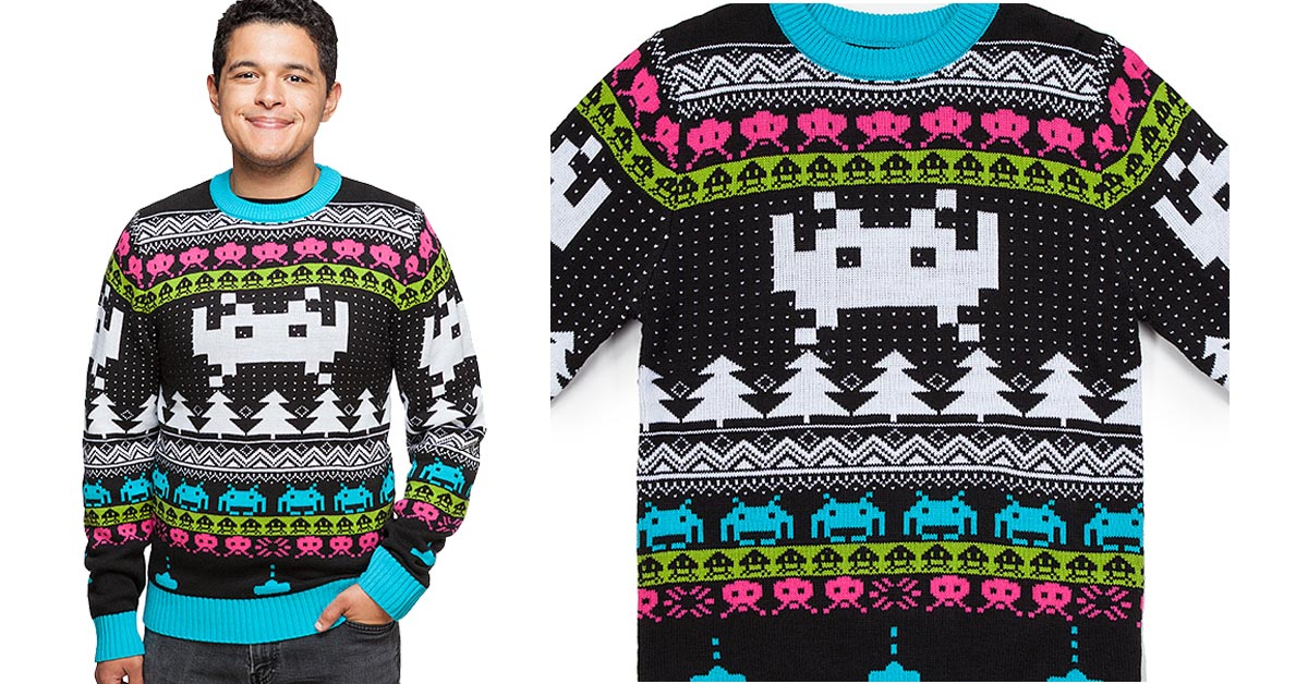 #1 Space Invaders Holiday Sweater