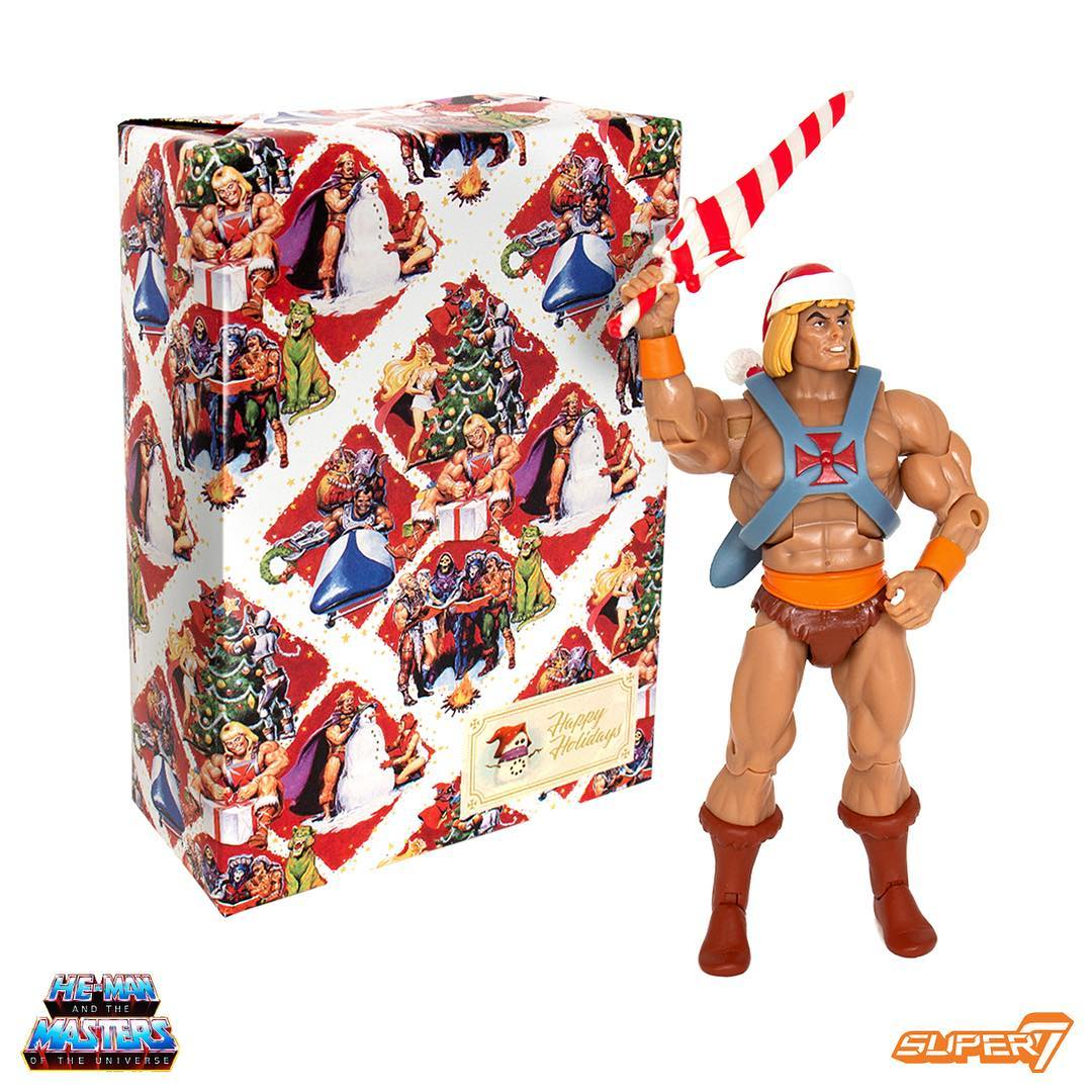 Masters of the Universe Holiday He-Man Club Grayskull collection figure