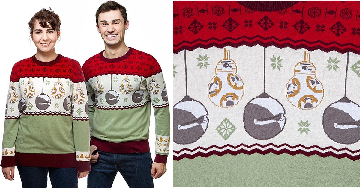 #6 Star Wars BB-8 Sleigh Bells Holiday Sweater