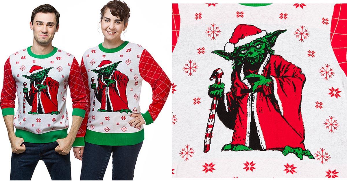 #7 Star Wars Yoda Holiday Sweater