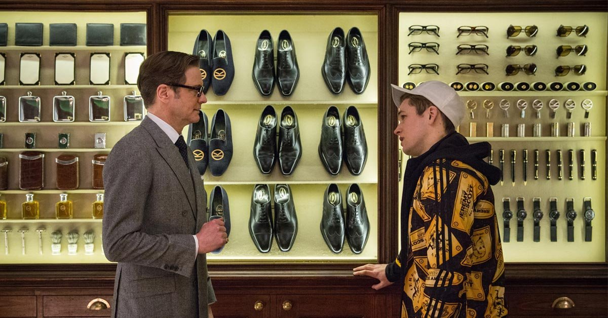 Colin Firth's Harry Hart and Taron Egerton's Eggsy in Kingsman