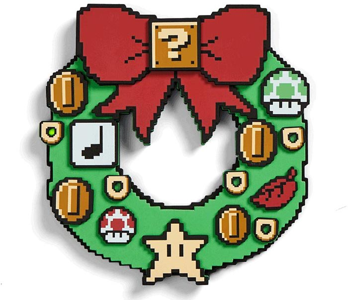 ktng nintendo super mario wreath e1543625929678 - Get into the Christmas Spirit with this Super Mario Light-Up Wreath
