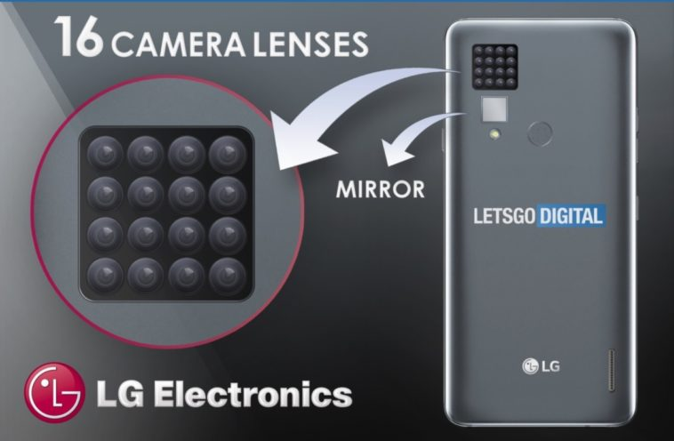 LG's files patent for phone with 16 cameras 10