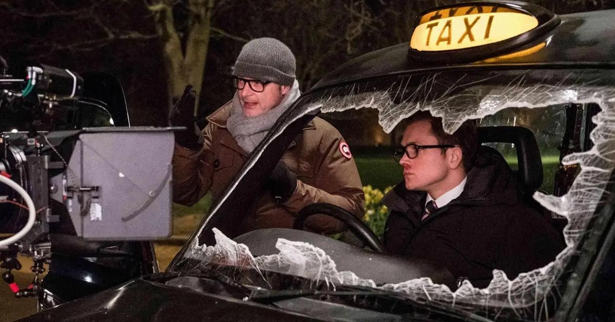 Matthew Vaughn directing on the set of Kingsman: The Golden Circle