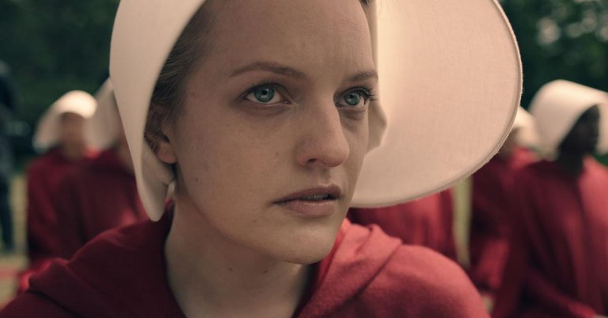 Elisabeth Moss as Offred on The Handmaid's Tale