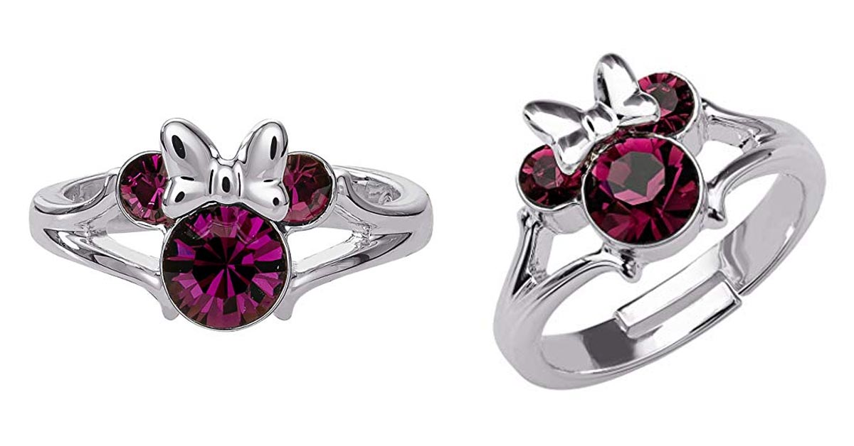 Minnie Mouse Amethyst Crystal Ring