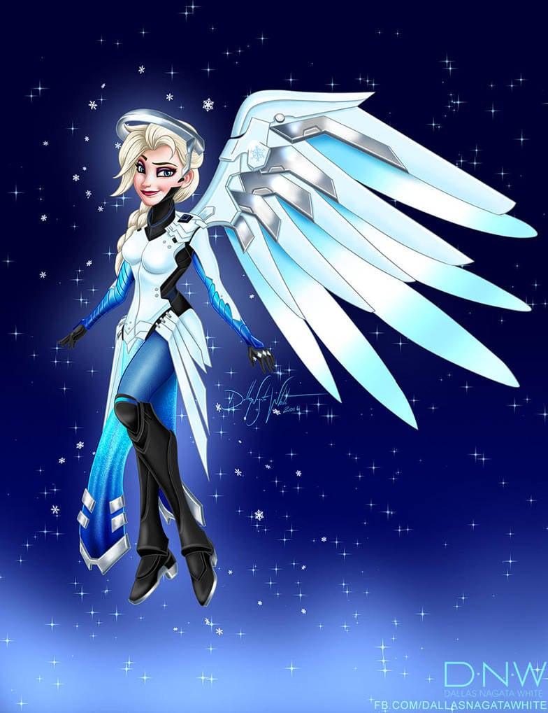 Elsa as Mercy