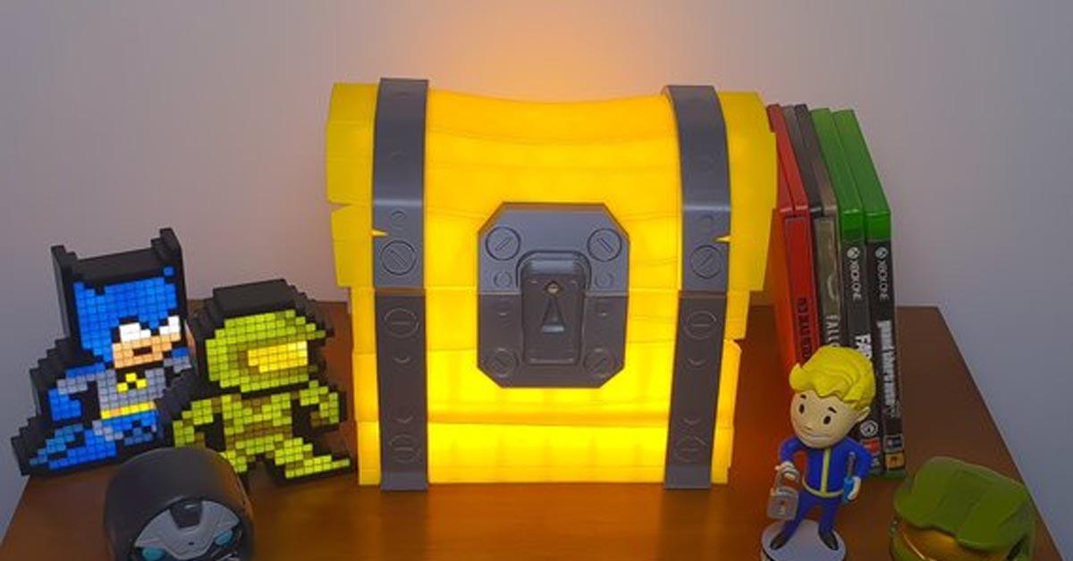 Fortnite Loot Chest Night Lamp and Trinket Box
