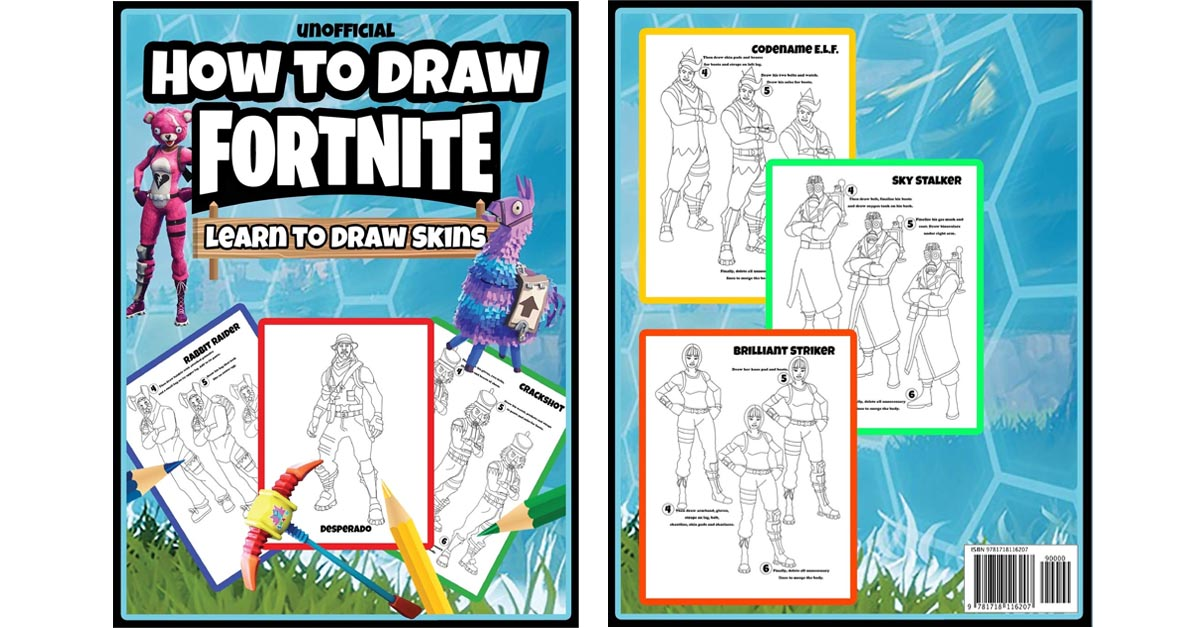 How To Draw Fortnite Sketch and Coloring Book