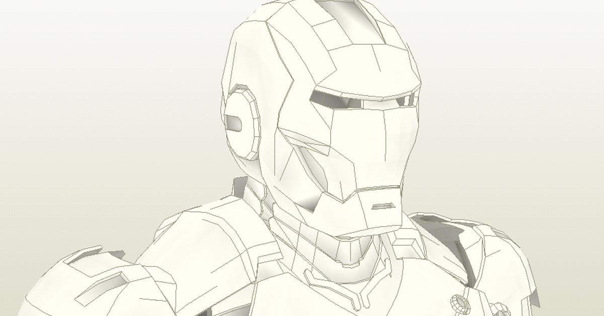 Iron Man 3D design
