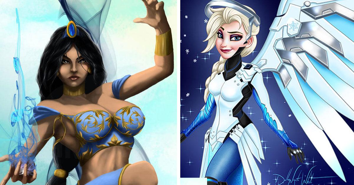 overwatch disney 364x205 - Disney Princesses re-imagined as Overwatch Heroes