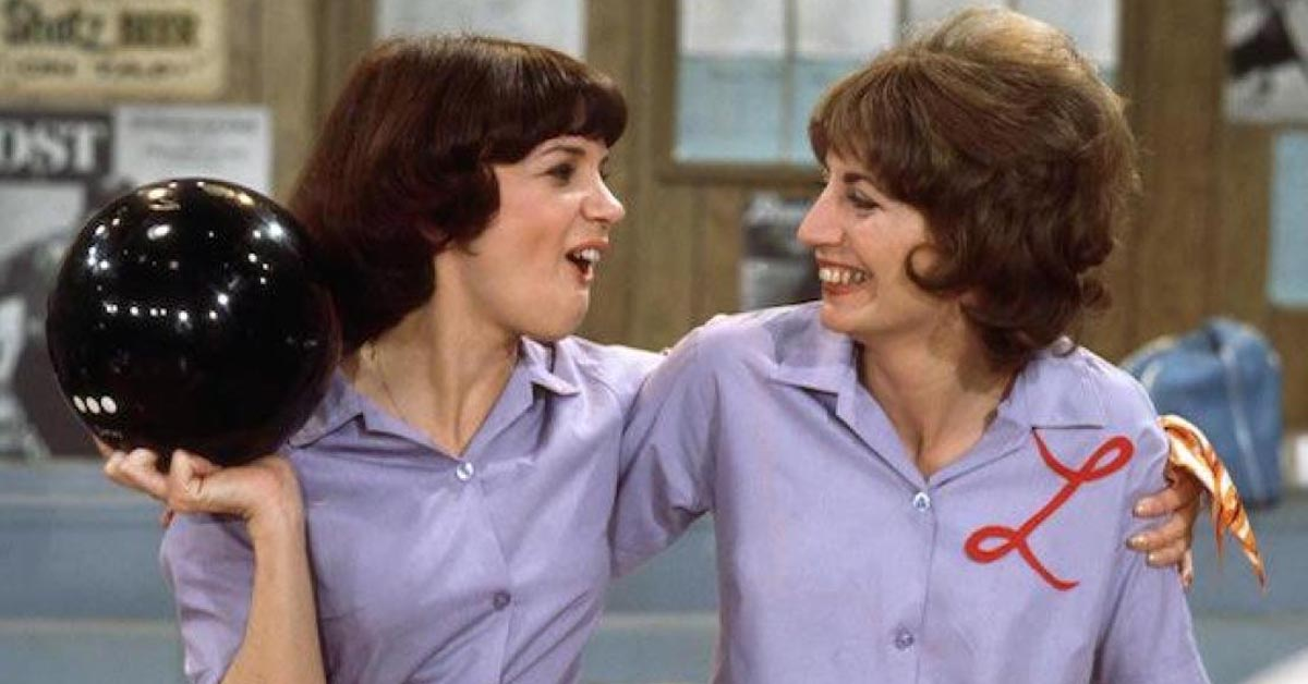 Penny Marshall as Laverne and Cindy Williams as Shirley on ABC's sitcom Laverne & Shirley