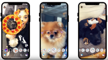 Snapchat dog lenses