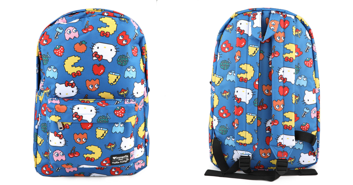 Pac-Man X Hello Kitty Blue Backpack