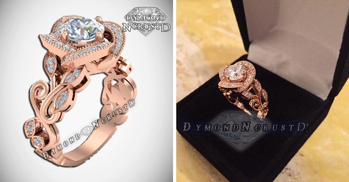 Belle Rose Gold-Plated Rose Flower Ring