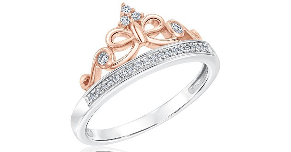 Snow White Tiara Princess Ring