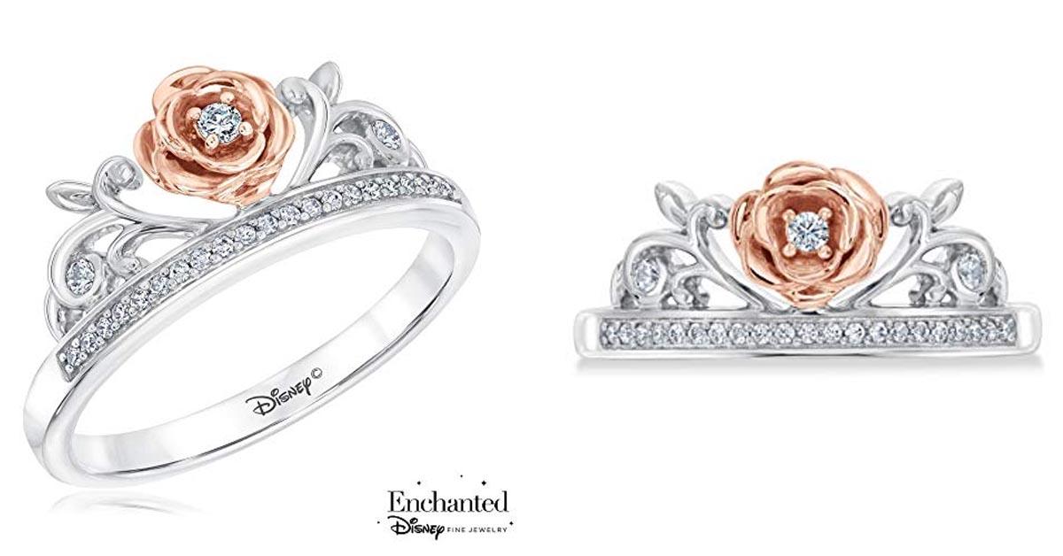 Belle Diamond Rose Princess Ring