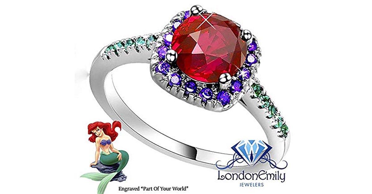 Little Mermaid Garnet Ring